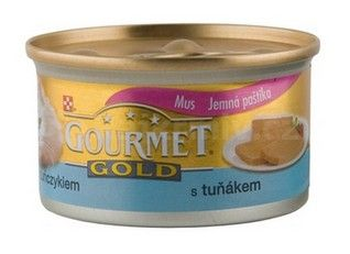 Gourmet Gold konzerva kočka jemná paštika tuňák 85g