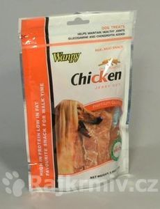 Wanpy Dog pochoutka Jerky Chicken CUT 100g