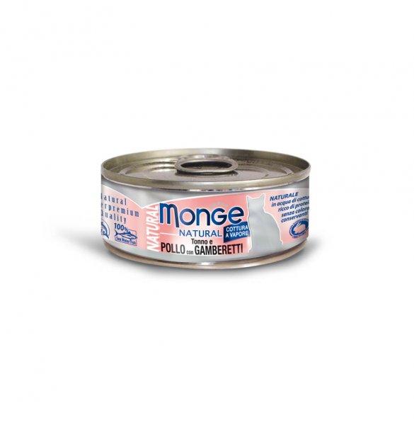 Monge Natural kuřecí maso s krevetami pro kočky 80g
