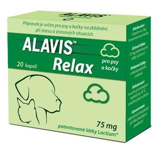Alavis Relax pro psy a kočky 75mg 20cps