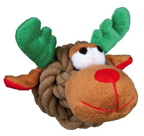 Vánoční provázkový míč s obličejem Santa/Sob/Sněhulák 11cm