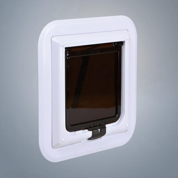 Průchozí dvířka 4-cestná XL spec.do skla, bílá 30,7 x 30,7cm