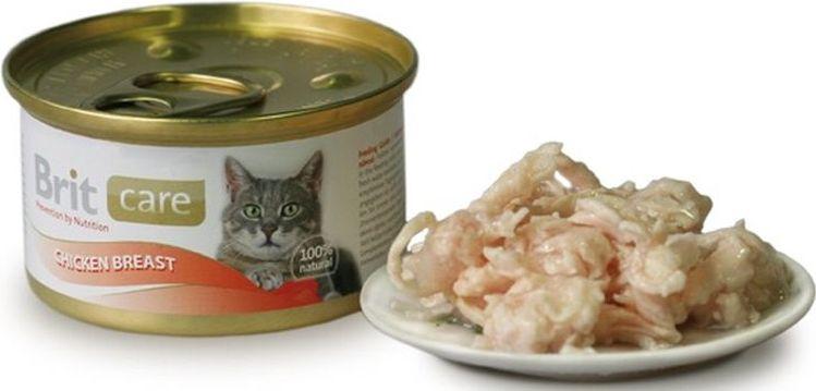 Brit Care Cat Konz. kuřecí prsa 80g