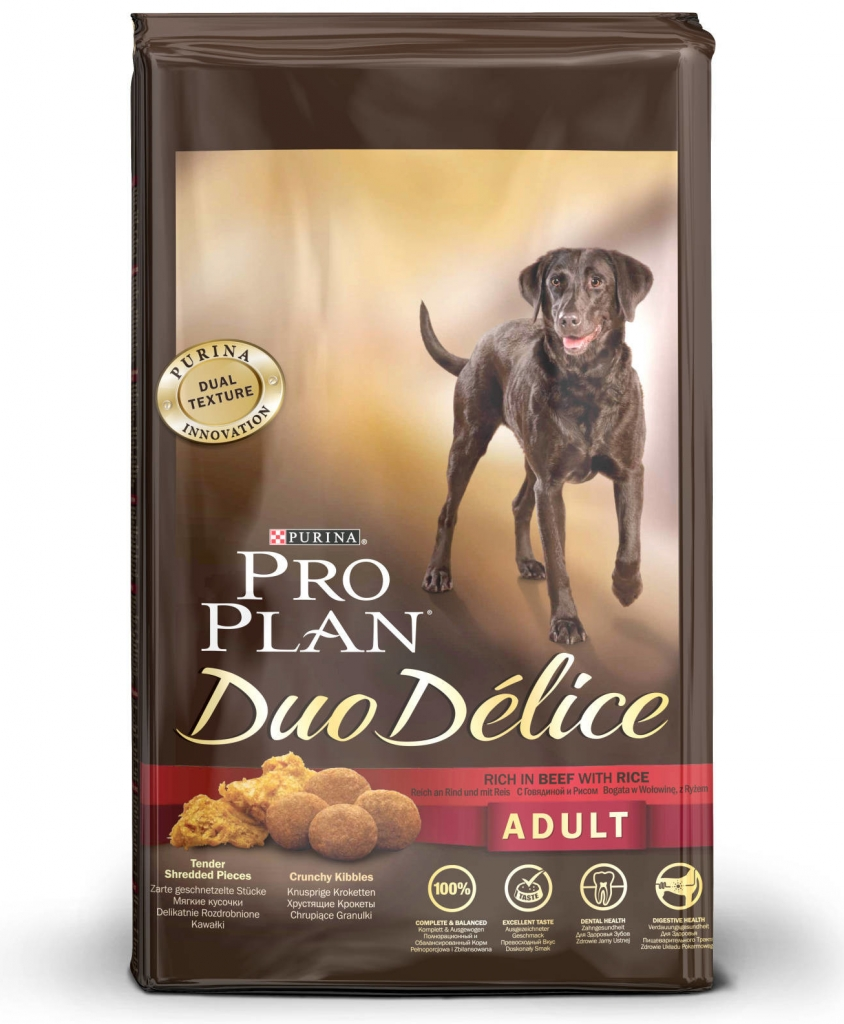 Purina Pro Plan Dog Adult Duo Délice Beef 10kg