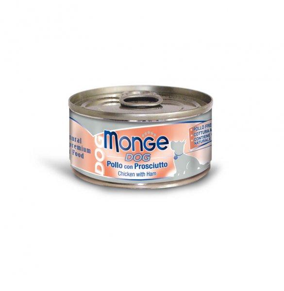 Monge Dog Natural kuřecí maso se šunkou pro psy 95g