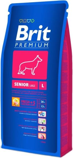 Brit Premium Dog Senior L 15kg krmivo pro psy