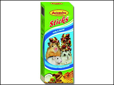 Tyčinky pro malé hlodavce ořechové 2ks